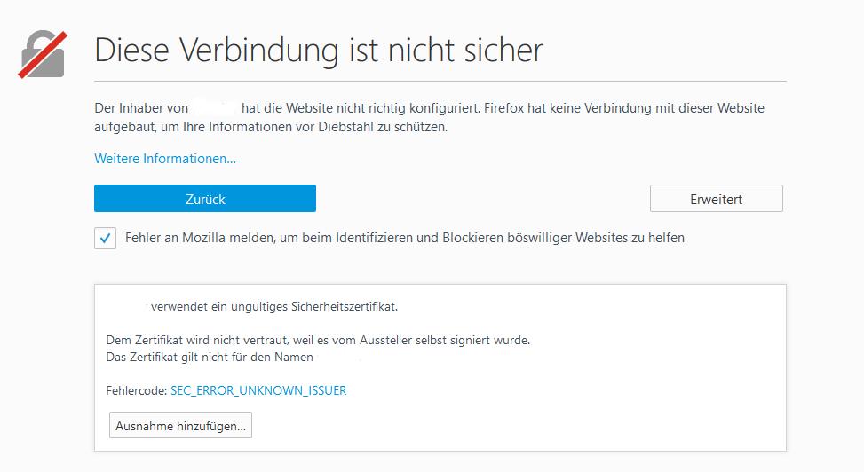 Ein selbstsigniertes SSL Zertifikat in Apache verwenden | Codersblog.de